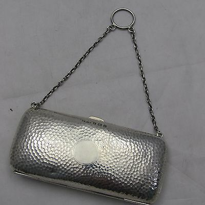 LOVELY PLANISHED SILVER ARTS CRAFTS EDWARDIAN SILVER LADIES PURSE SYDNEY Co 1910