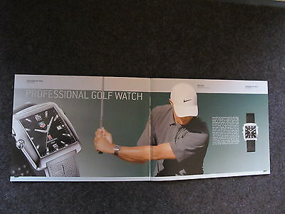Tag Heuer Watch Print Ads,clippings,tiger Woods 05