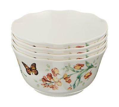 Lenox Butterfly Meadow Melamine All Purpose Bowls (Set of 4) White