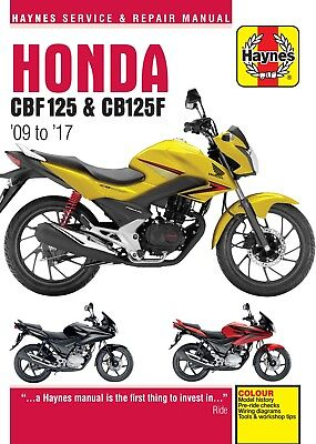 Honda CBF125 2009 - 2014 Haynes Manual 5540 NEW