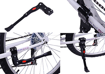 "Ammaco Rear Stay Fitting Bike Propstand Kickstand Alloy 20""-700c Wheels Black"