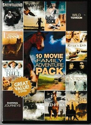 10 Movie Family Adventure Pack (2 DVD Set) Over 14 Hours of Movies