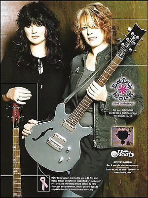 Heart band Ann & Nancy Wilson 2004 Daisy Rock guitar breast cancer 8 x 11 ad