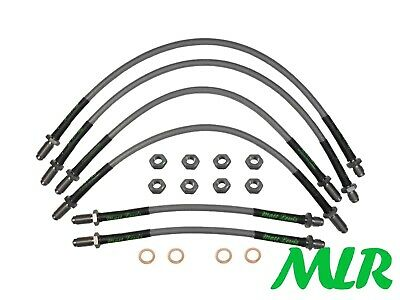 Ford Escort Rs Cosworth 4Wd Stainless Steel Braided Brake Lines Hoses Kit Eo