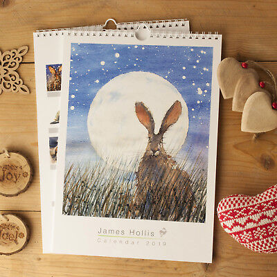 Calendar Watership down 2019 rabbit paintings and art A4 size christmas gift