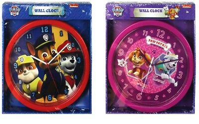 PAW PATROL CHILDRENS KIDS 24cm WALL CLOCK SKYE & EVEREST & MARSHALL,CHASE,RUBBLE