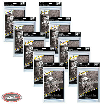1000 - ULTRA PRO SILVER RESEALABLE Comic Bags 7-1/4 x 10-1/2 - New Packaging!