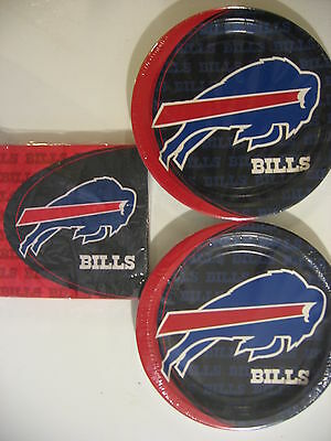 BUFFALO BILLS NFL FOOTBALL Party Supplies Includes Plates & Napkins NEW !!