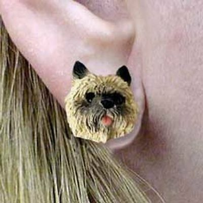 Cairn Terrier Red Tiny One Dog Head Post Earrings Jewelry