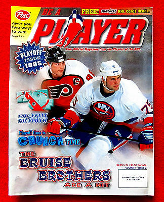 1995 Be a Player Official Magazine From the Players of the NHL Vol. 1 No. 2 lsc5