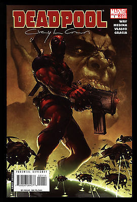 Deadpool (2008) #1 1st Print Signed By Clayton Crain Cover No COA Way Medina NM