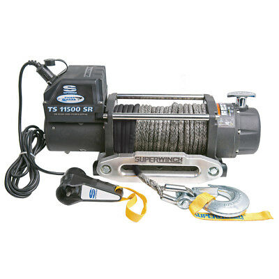 Superwinch TS11500SR Tiger Shark winch w/ Synthetic Rope and Hawse - 1511201