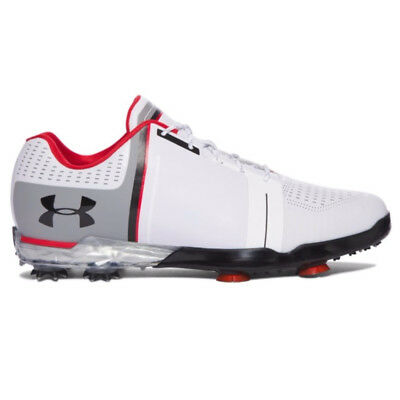 Under Armour 2017 Tour Spieth 1 One Mens Golf Shoes - White/Black/Red