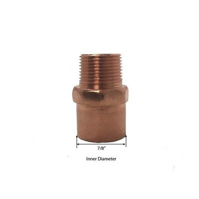 Libra Supply 3/4 x 1/2 inch Wrought Copper Reducing Male Adapter, CxMIP, 10pcs