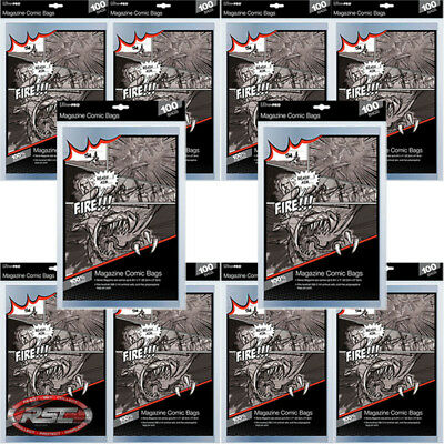 1000 - ULTRA PRO MAGAZINE SIZE 2-Mil Comic Bags 8-3/4 x 11 - New Packaging!