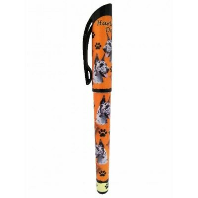 Great Dane Harlequin Dog Replaceable Gel Pen Black Ink
