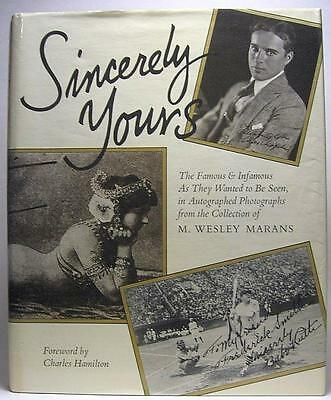 2 Charles Hamilton books-Book of Autographs & Sincerely Yours, Marans Collection