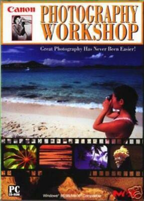 Canon Photography Workshop PC CD learn to take digital camera pictures photos