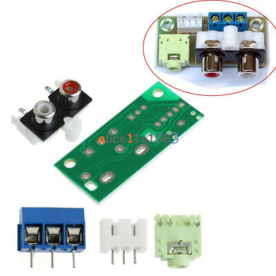 DIY Kit Audio Switch Board RCA 3.5mm Socket Input Block Stable 5V for Amplifier