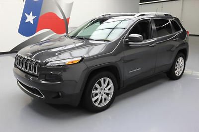 2015 Jeep Cherokee  2015 JEEP CHEROKEE LIMITED 4X4 LEATHER NAV REAR CAM 24K #765498 Texas Direct
