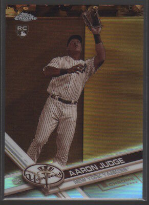 AARON JUDGE 2017 Topps Chrome SEPIA REFRACTOR Short Print RC Rookie
