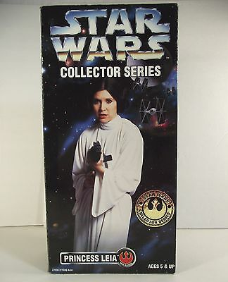 "PRINCESS LEIA Doll 1996 Star Wars Kenner NRFB 12"" Poseable Figure Carrie Fisher"