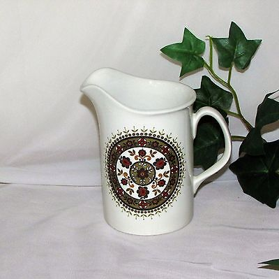 Ridgway Navajo Creamer Cream Pitcher Jug Retro Ironstone England Green Black