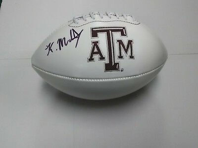 KELLEN MOND Texas A&M Aggies SIGNED Logo Football