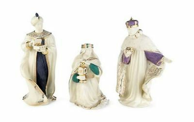 Lenox First Blessing Three Kings Porcelain Christmas Nativity Figurine Set of 3