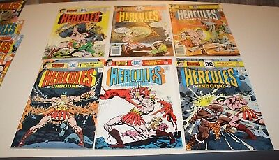 Dc Comics Hercules Unbound 1-12 12 Comic Lot 1975 Free Shipping
