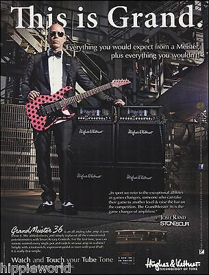 Stone Sour Josh Rand for Hughes & Kettner guitar amps ad 8 x 11 advertisement