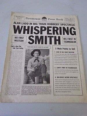 1948 Whispering Smith 24 page Film Paramount Press Book.