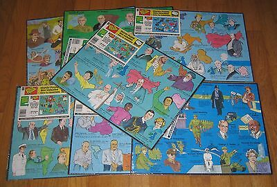 7 Personalities in American Culture 1989 Desktop Puzzles 12 x 16 NEW SEALED
