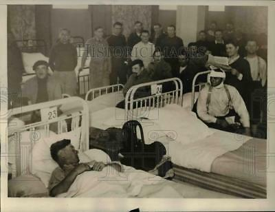1940 Press Photo Wounded French Soldiers Recovering French Hospital
