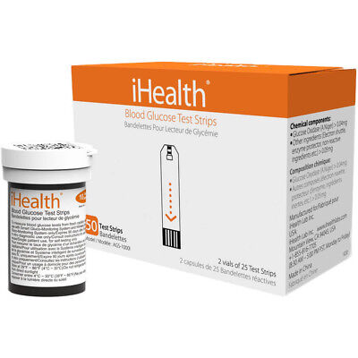 iHealth Blood Glucose Test Strips Count of 50