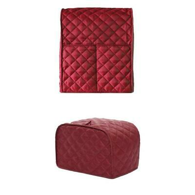 Polyester 2-Slice Bread Toaster Mixer Cover Protector Oven Cover Red Grid