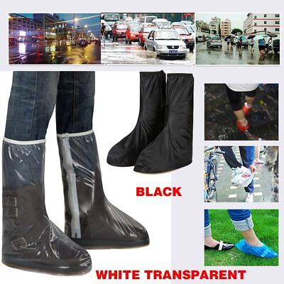 Waterproof Rain Thicken High-top Non-slip Cycling Shoes Boots Cover W/Zipper NEW