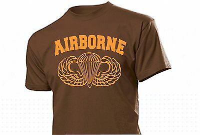 T-Shirt Airborne Paratrooper WH WK2 WWII US Army Ranger Wings Seals Gr 3-5XL