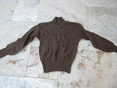 US Army Vintage Mechanics Highneck Sweater OD Oliv M43 USMC Navy Marines Fury
