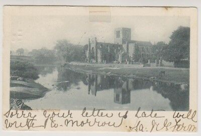 East Lothian postcard - Abbey Church, Haddington - P/U 1903
