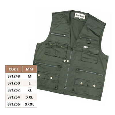 Gilet Multitasche Verde Pesca Caccia Softair
