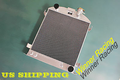 "22.5"" high 3"" chopped radiator Ford hot rod 1932 w/Chevy 350 V8 engine 56mm"