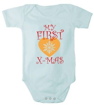 Romper baby bodysuit First Christmas Merry Christmas