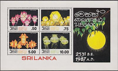 Sri Lanka 1987 Vesak 4 Values Mint M/s
