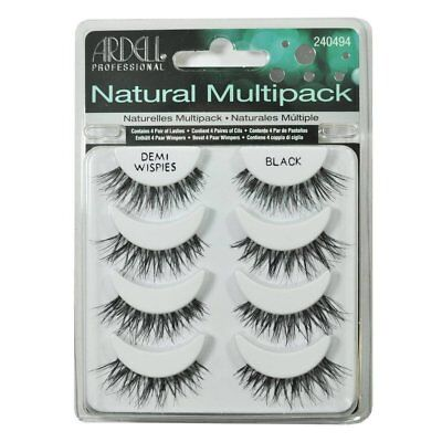 Ardell Natural Multipack Demi Wispies Black Easy To Apply Full False Eye Lashes