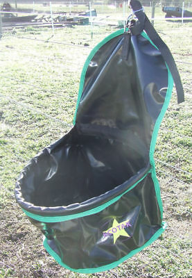 Ecotak PVC Portable Feed Bag - Black with Green Trim Ecotak