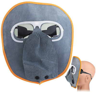 New Welding Helmet Cow Leather Mask with Sunglasses for Various Welding Foldable