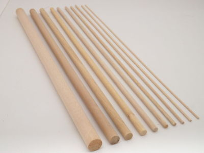 5mm - 25mm WOODEN HARDWOOD DOWELS BIRCH RAMIN STICK CRAFTS