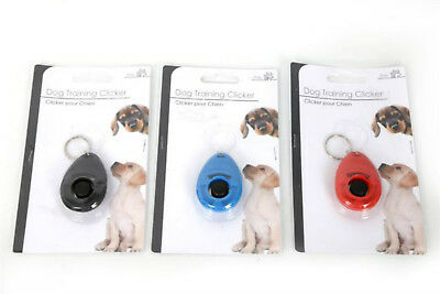 NEW DOG TRAINING CLICKER/TEACHING TOOL/DOGS/ PUPPY/ PUPPIES-RED or BLUE or BLACK