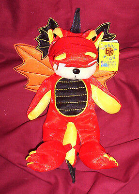 BEANIE KID  Draco the Dragon Bear  BK 606  Mint With Mint Tag